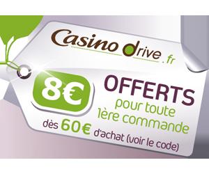 - redirection automatiquement vers Casinodrive -